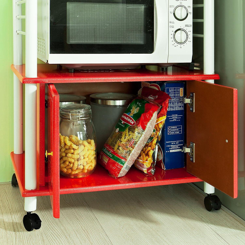 SoBuy Forno a microonde Mensole, Carrello da cucina, armadietto ...