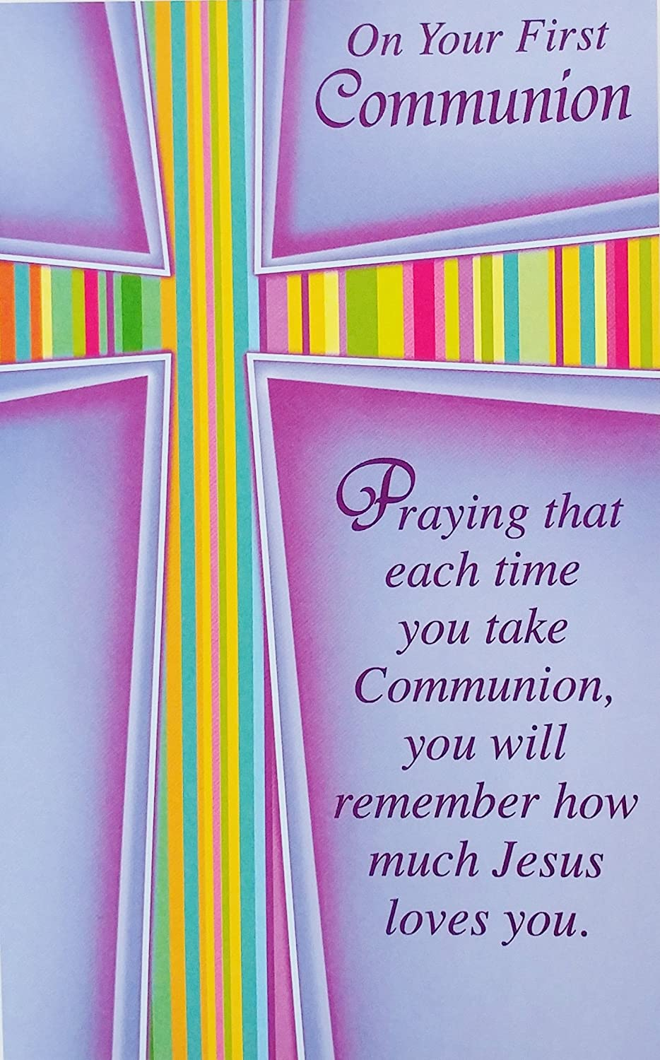 JUST FOR YOU ON YOUR FIRST COMMUNION CARD