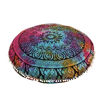 Amazon.com: Shubhlaxmifashion - Cojín de suelo con diseño de ...