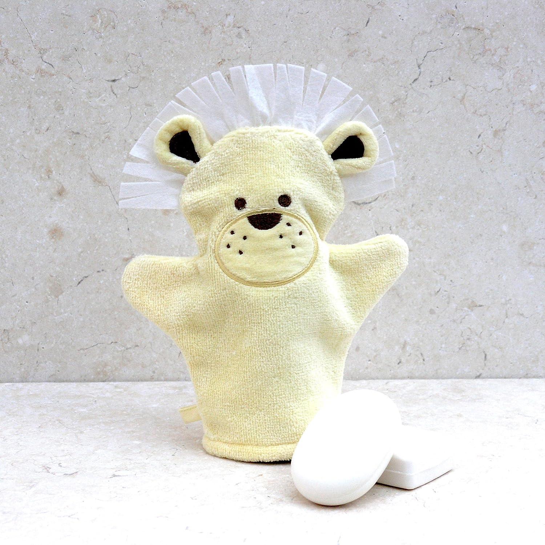 Bathing Bunnies Gant de toilette /«Lion/» en coton