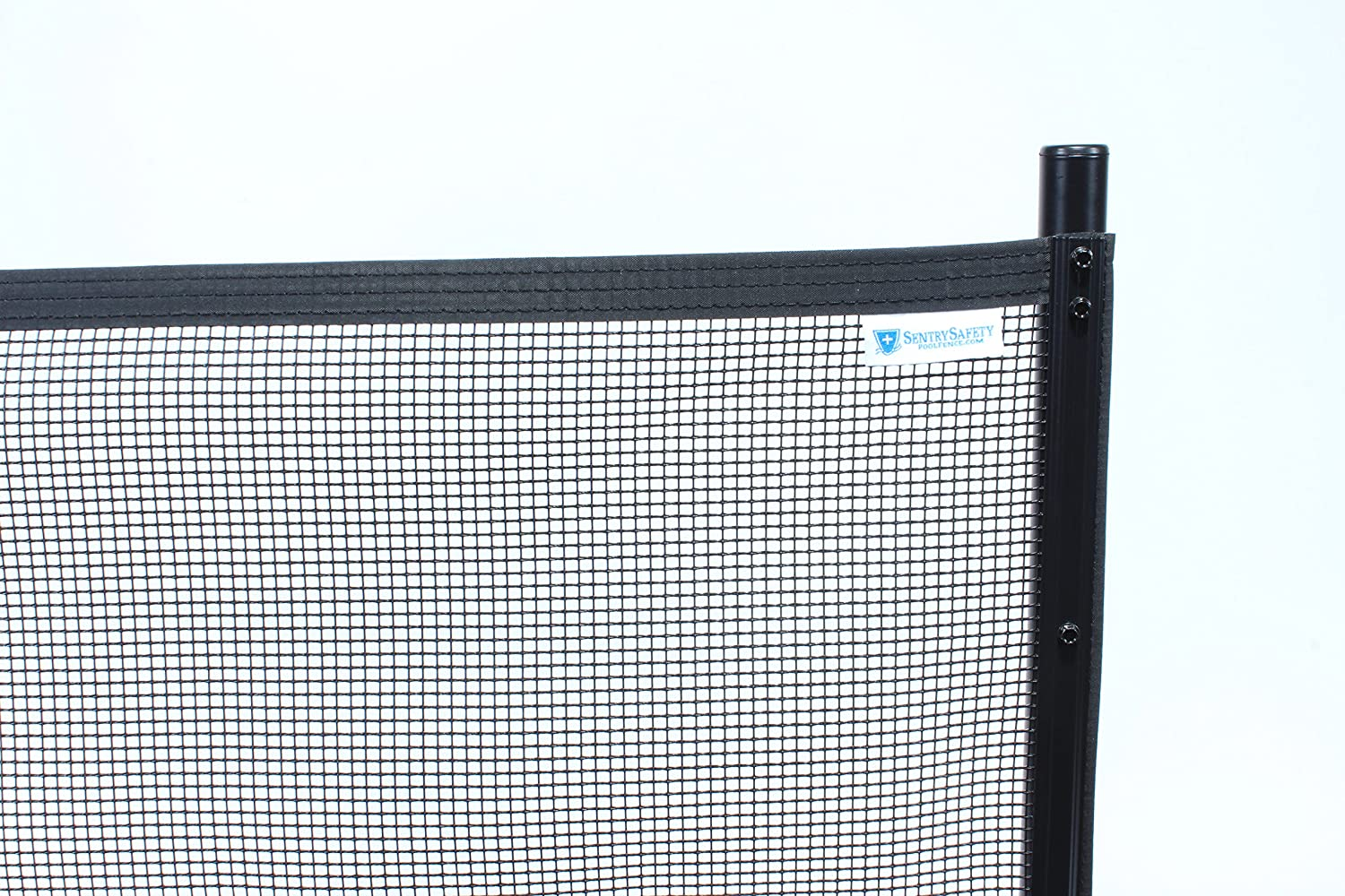 Sentry Safety Pool Fence Visiguard 4' Tall 12' Long Removable Child Barrier Pool Safety Mesh Fence (Black)