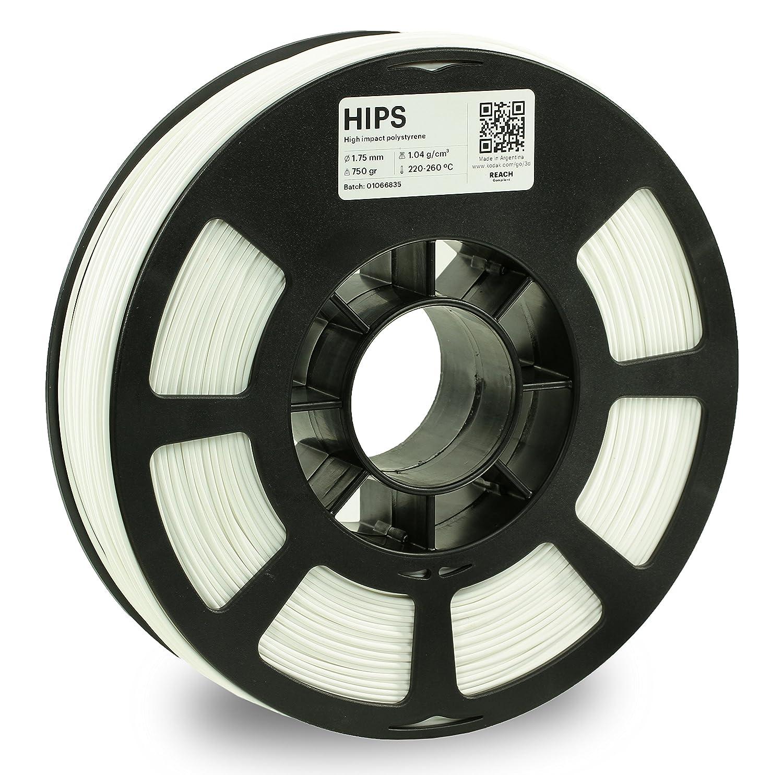 KODAK 3D Printer limonene Soluble Filament Hips White +/- 0.03 mm, 750g (1.6lbs) Spool, 1.75 mm. Lowest Moisture Premium Filament in Vacuum Sealed Aluminum Ziploc Bag. Fit Most FDM Printers.