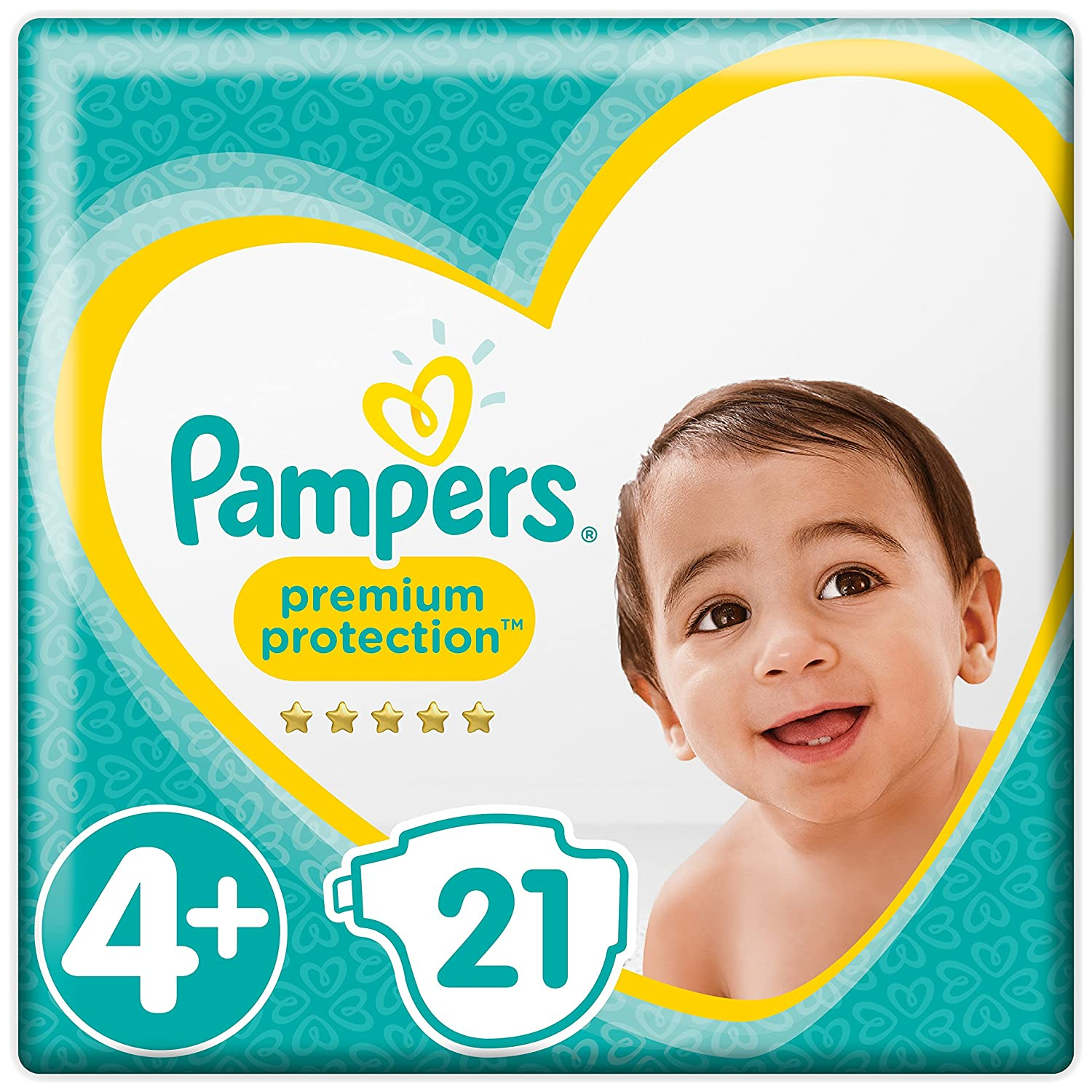 Pampers Premium Protection Windeln, Gr. 4+ Maxi Plus (10-15 kg), 1er Pack (1 x 21 Stück) 1er Pack (1 x 21 Stück) Procter & Gamble 8001090299529