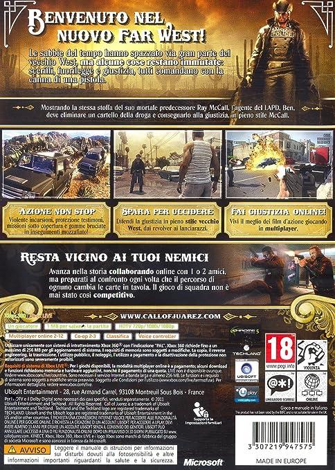 Call of Juarez: The Cartel [Importación italiana]: Amazon.es ...