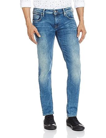 554dc2cc10e76 Pepe Jeans Men's Finsbury-Imp Powerflex Slim Fit Jeans  (8903872759460_PM200338_28W x 34L_FLX Lite)