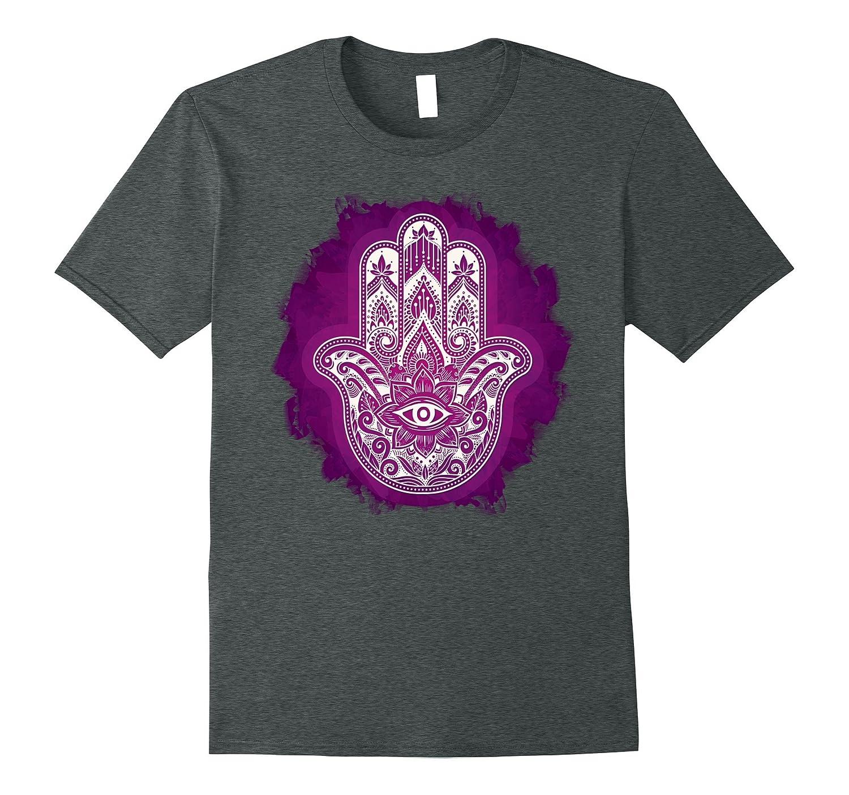 Yoga Shirt - Hand of Fatima Glow Design for Women Men Kids-TH