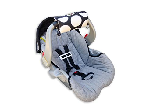 Padalily The Original Car Seat Handle Cushion Dotty Zig Zag