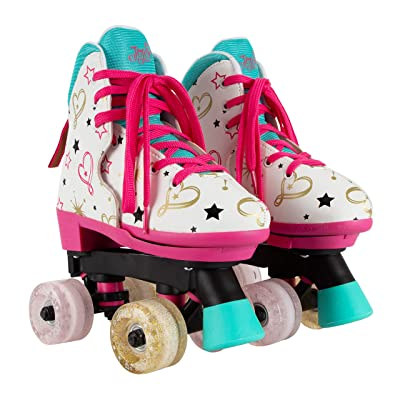 Circle Society Classic Adjustable Indoor & Outdoor Childrens Roller Skates - JoJo Siwa Party in Pink - Sizes 12-3: Toys & Games
