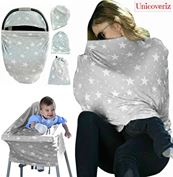 Nursing Breastfeeding Cover Scarf | Baby Car Seat Canopy | Pouch u0026 Gift Pack Set | & Amazon.com: Nursing Breastfeeding Cover Scarf | Baby Car Seat ...