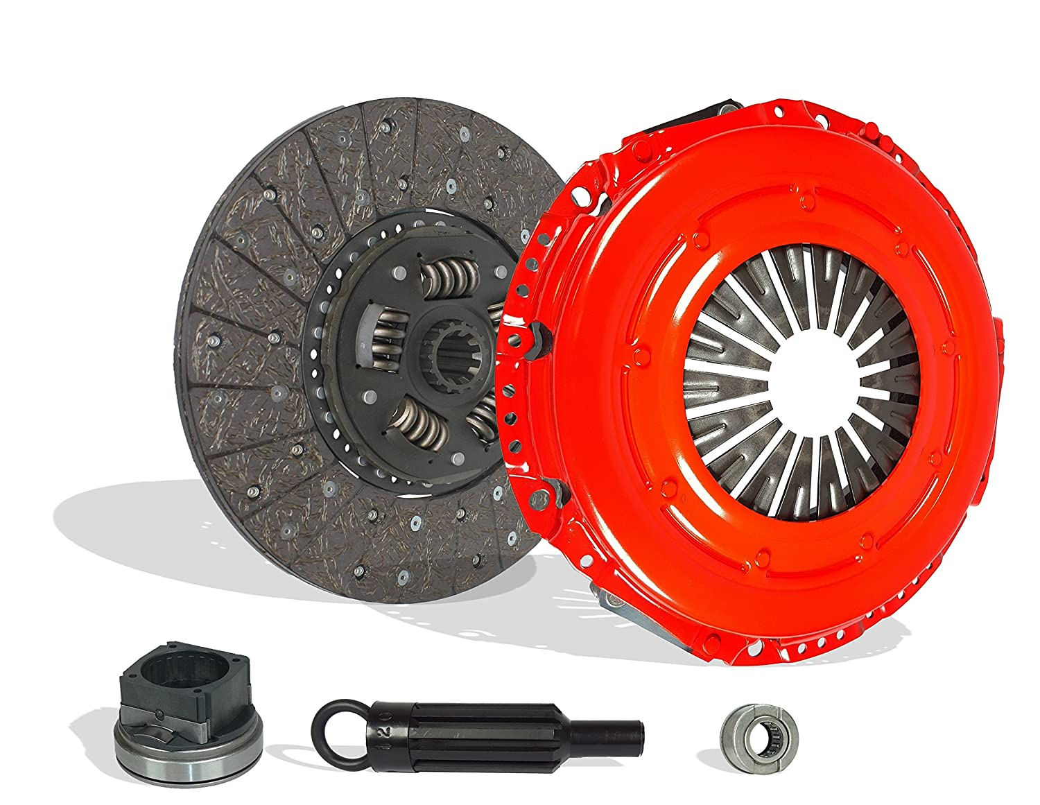 Stage 1 Clutch Kit Works With Ford F250 F350 F450 F550 Super Duty F53 Cabelas King Ranch Lariat XL XLT Base Harley-Davidson Edition FX4 1999-2010 6.8L V10 GAS SOHC Naturally Aspirated