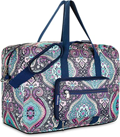 Doodle Travel Carry-on Luggage Weekender Bag Overnight Tote Flight Duffel In Trolley Handle
