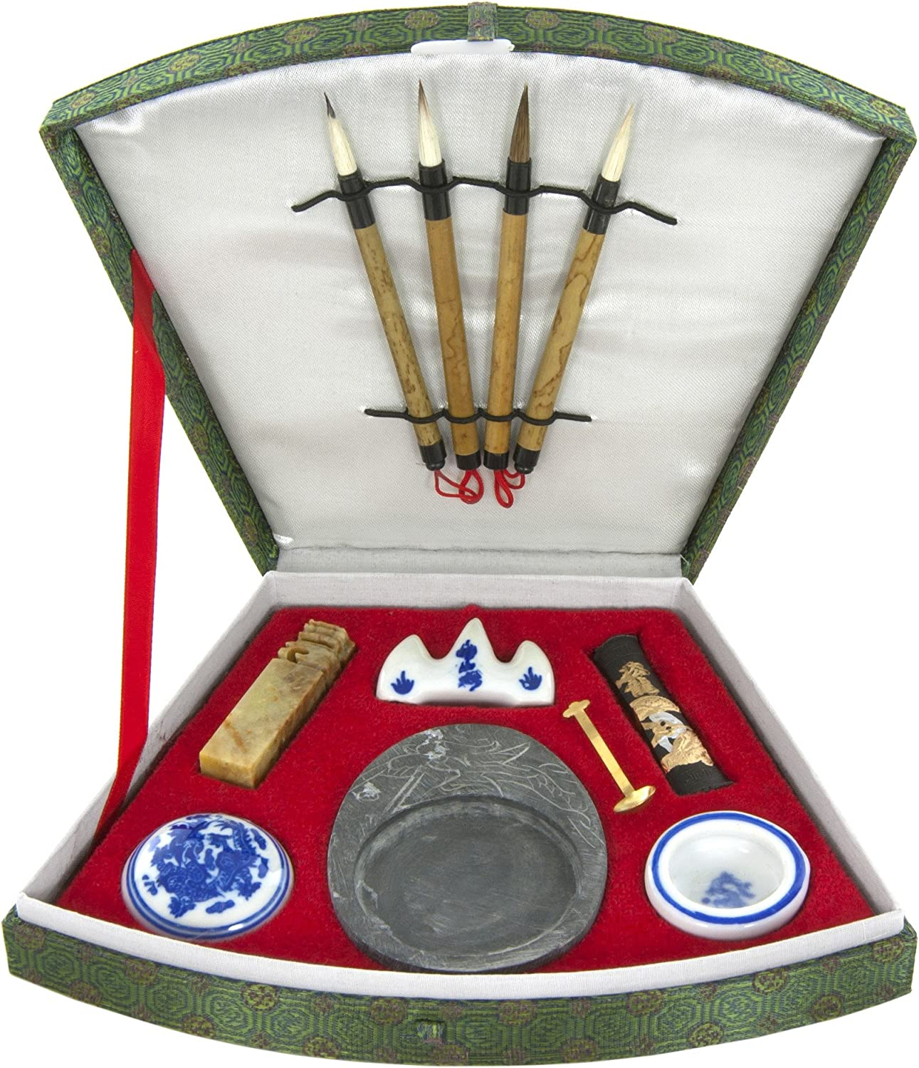Oriental Furniture Fan Calligraphy Set
