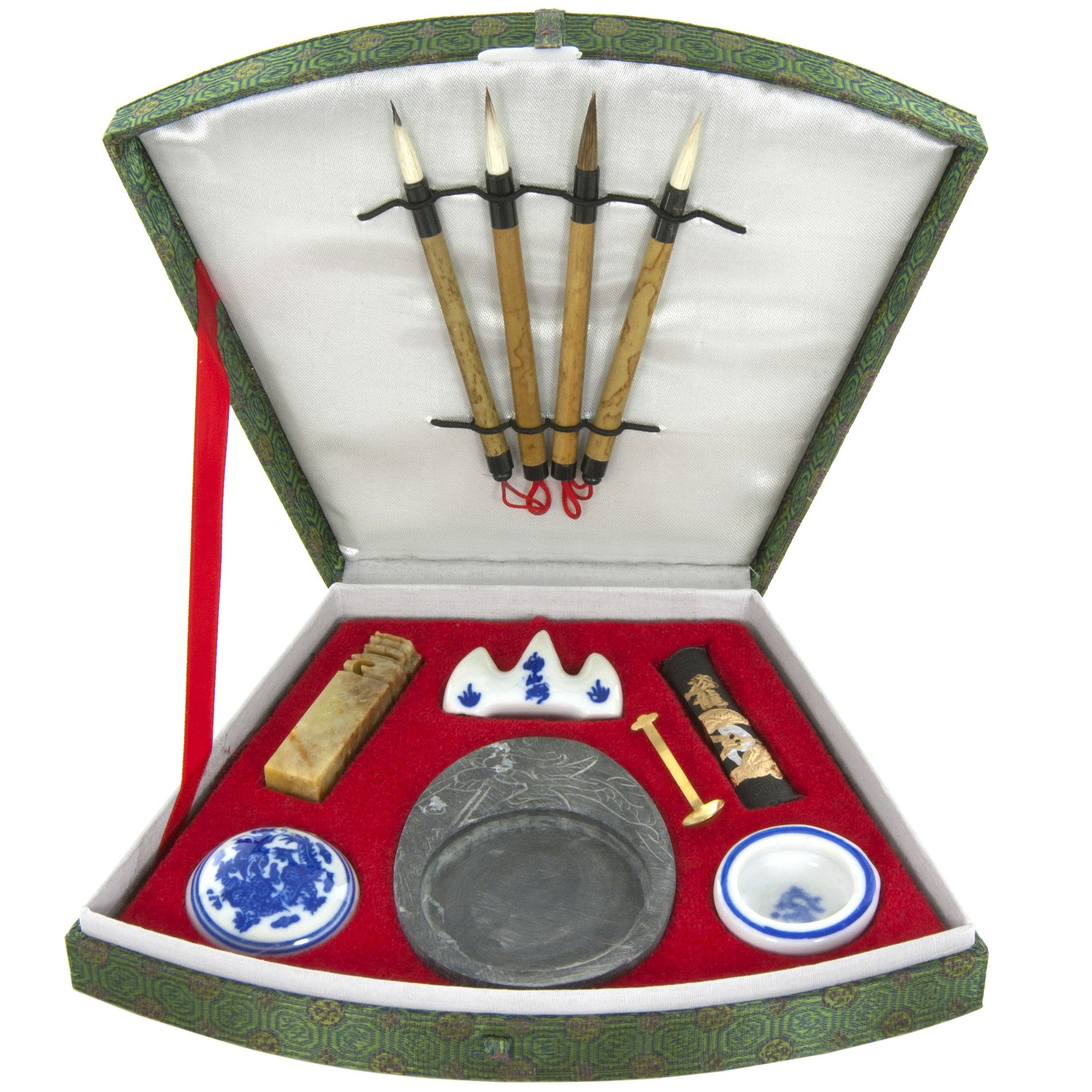 Oriental Furniture Fan Calligraphy Set
