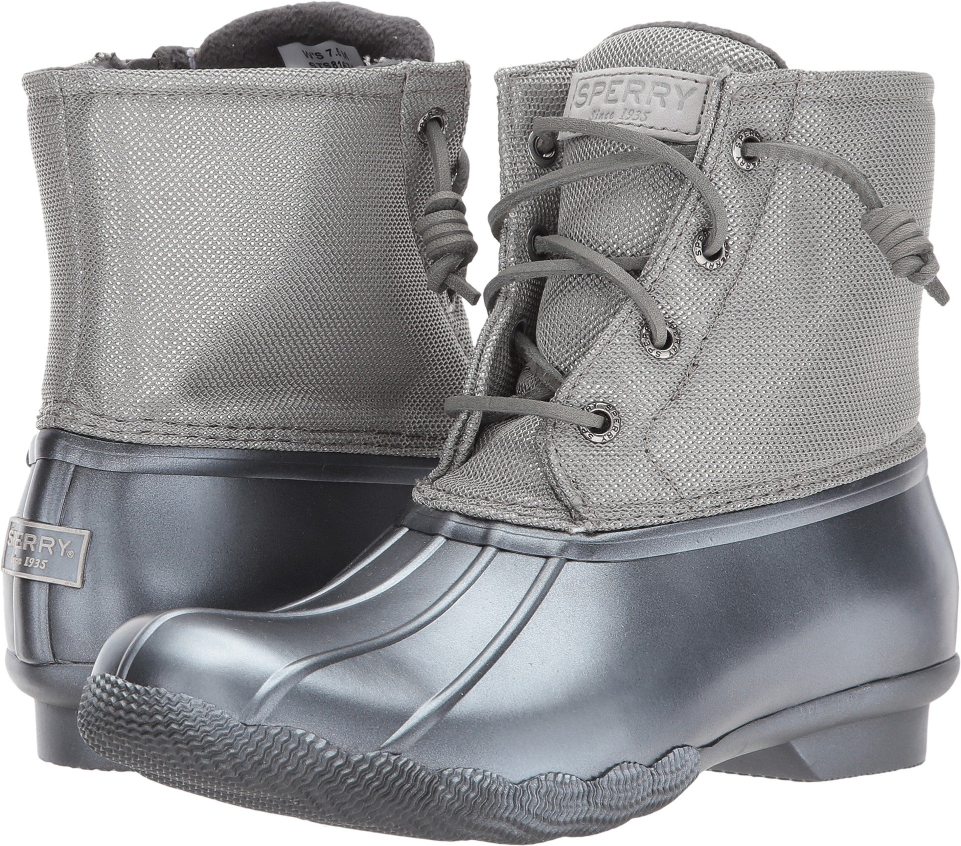 Sperry Top-Sider Women's Saltwater Pearlized Rain Boot, Gunmetal, 9.5 Medium US by Sperry Top-Sider (Image #1)