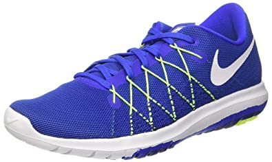 38208ee30db Nike Men s Flex Fury 2 Trainers Racer White-Volt-DEEP Royal Blue ...