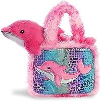 "Aurora World Pet Carrier Plush Toy Animal, Fancy Pals Dolphin, 6"""