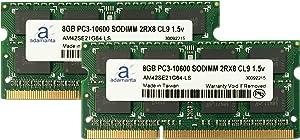 Adamanta 16GB (2x8GB) Laptop Memory Upgrade for Dell Precision M4600 DDR3 1333Mhz PC3-10600 SODIMM 2Rx8 CL9 1.5v Notebook DRAM