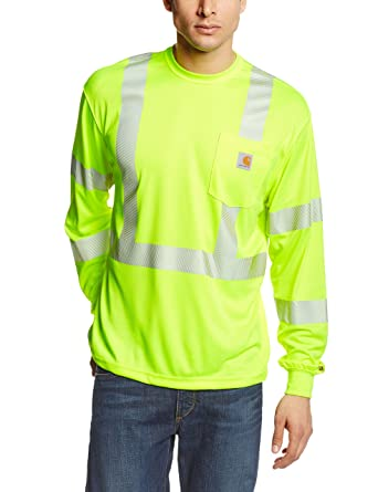 Amazon.com: Carhartt Men's High Visibility Force Long Sleeve Class 3 Tee:  Clothing