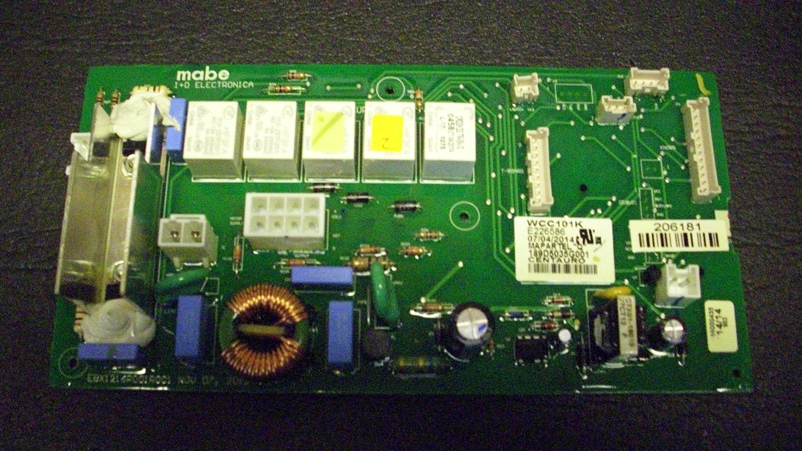 GE  Control Board Assembly (OEM) Part# WH12X20274