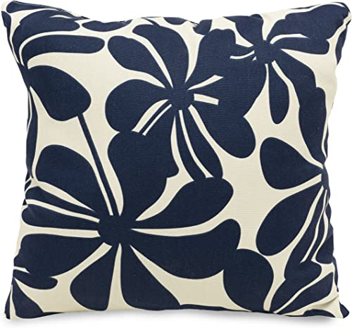 Majestic Home Goods Navy Blue Plantation Indoor / Outdoor Large Pillow 20″ L x 8″ W x 20″ H
