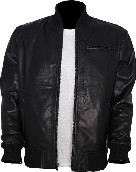Amazon.com: Jason Statham Style - Chaqueta de piel de ...