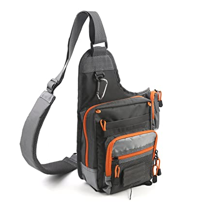 565bd709e3e4 FlySoul Sports Shoulder Bag Fly Fishing Tackle Bag Crossbody Messenger  Sling Bags