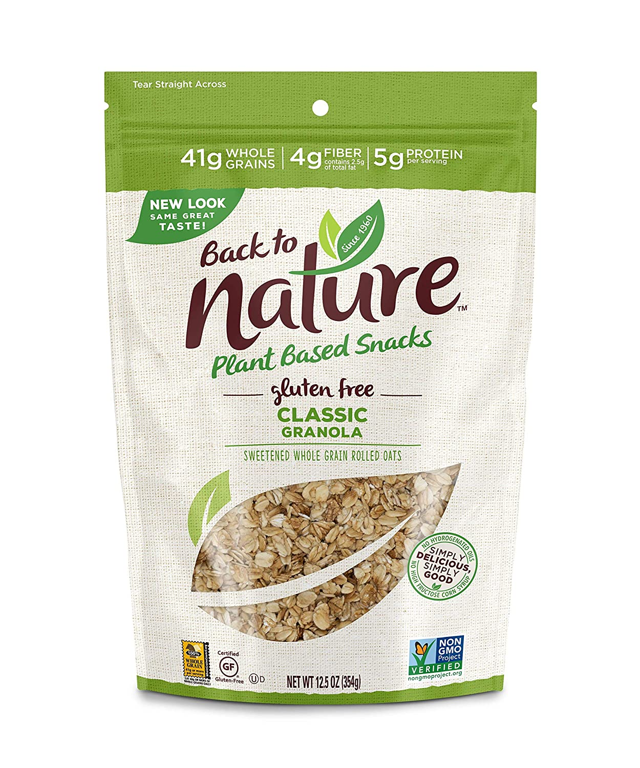 Back to Nature Gluten Free Granola, Non-GMO Classic, 12.5 Ounce (Pack of 6) (Packaging May Vary)