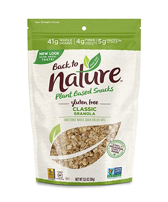 Back to Nature Gluten Free Granola, Non-GMO Classic, 12.5 Ounce (Packaging May Vary)
