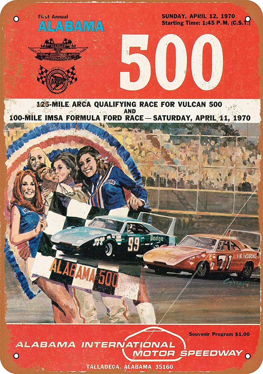 Amazon.com: 9 x 12 Metal Sign - 1970 Alabama 500 Talladega ...