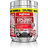 Six Star Explosion Ripped Pre Workout Thermogenic, Preworkout Energy, Weight Loss, Watermelon, 7.91 oz. (224g), 40 Servings