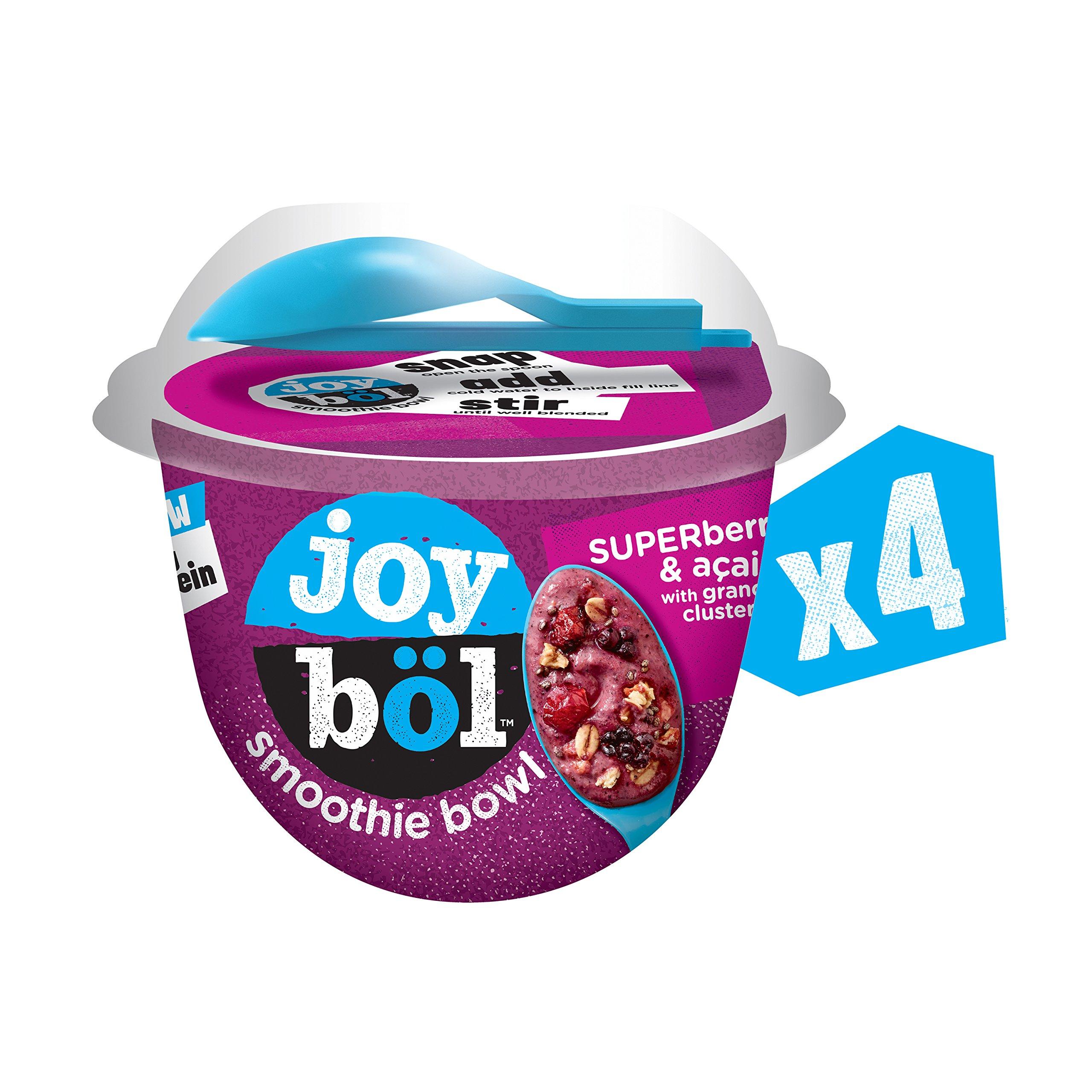 joyböl Smoothie Bowls, Superberries and Açai, Easy Breakfast, Non-GMO, 4 Count by joyböl