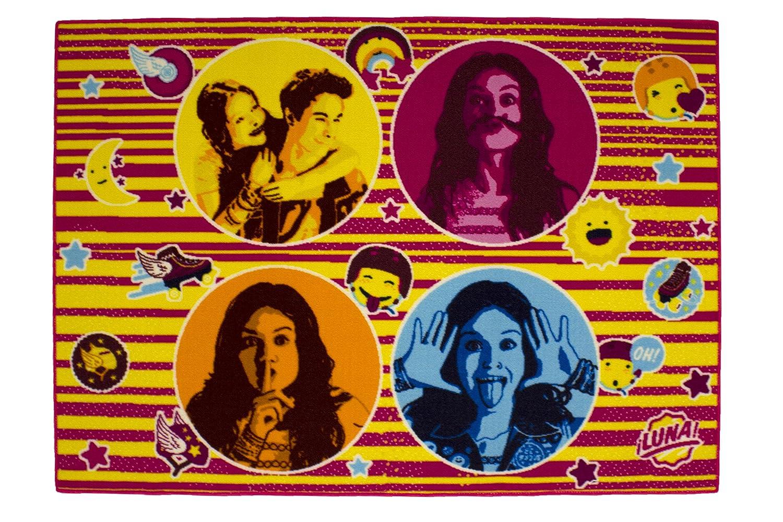 Soy Luna 634024 Alfombra de decoración de Sol 4 Retratos Terciopelo Rosa 133 x 95 x 1,5 cm: Amazon.es: Hogar