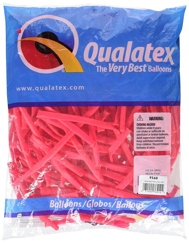 Pack Of 100 Anagram International 76412 Burton /& Burton 260Q Neon Pink Pencil Balloons