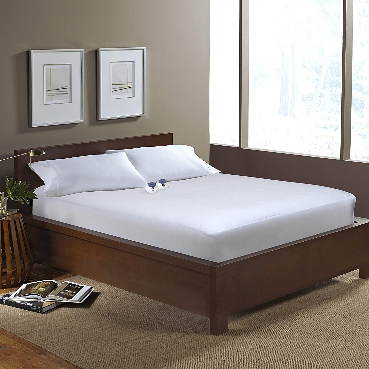 SoftHeat Heated Electric Mattress Pad with Safe & Warm Low Voltage Technology, 250 Thread-Count, King