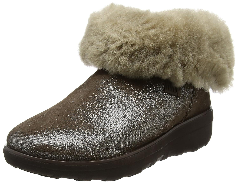 Fitflop Mukluk Shorty 2 Shimmer Boots, Botines para Mujer41 EU|Marrón (Bronze)