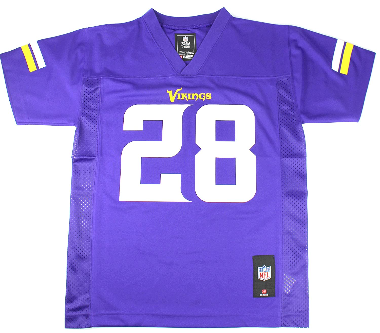 Adrian Peterson Minnesota Vikings NFL Kids Purple Home Jersey Size Medium 5/6  eBay