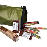 Carnivore Club Wild Game Sampler Set - Includes 8 Delicious Wild Game Meat Snacks - Comes Packed in a Hiking Dry Bag - Summer