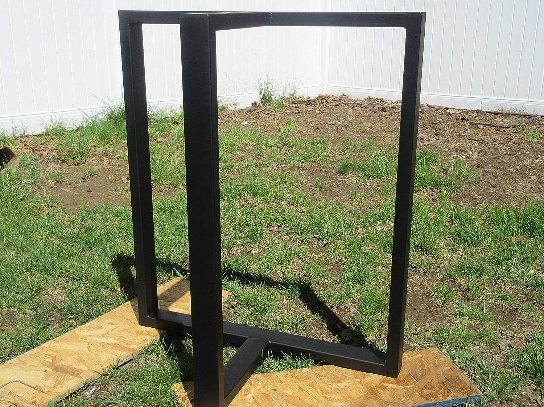 metal table legs 28 high metal base glass table top metal base t shaped table base custom sizes /& colors t shaped table legs black table legs