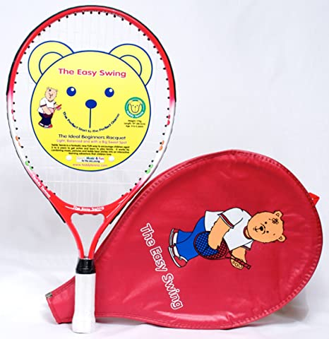Teddy Tennis 19 Inch Children S Tennis Racket For Beginners Ideal For Kids Aged 4 6 Years Amazon Co Uk Sports Outdoors