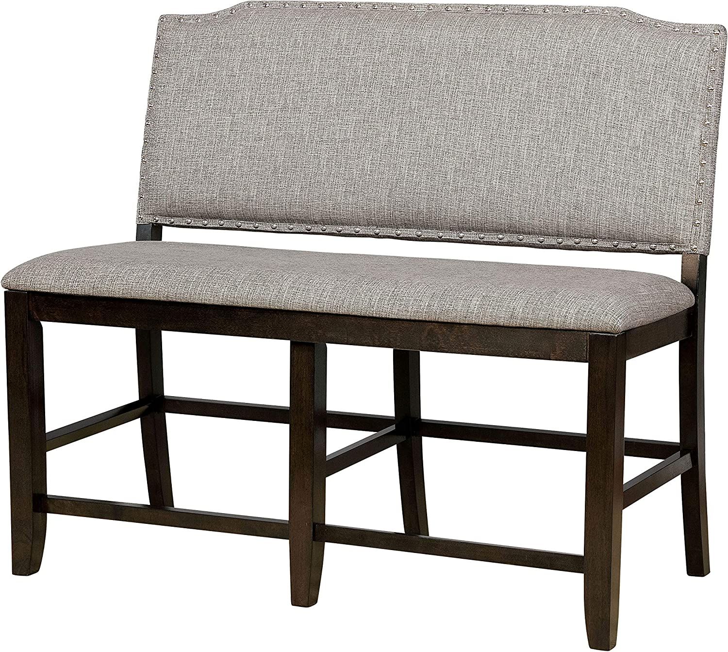 Dark Walnut Out Numura Counter Height Dining Bench Inside HOMES