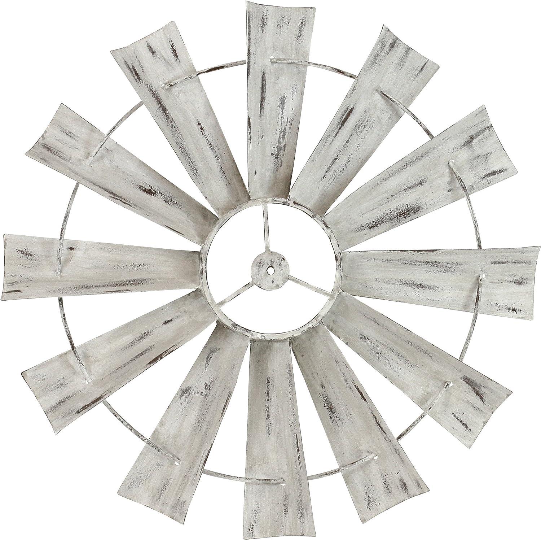 Aspire 5100 Celeste Windmill Wall Decor, White