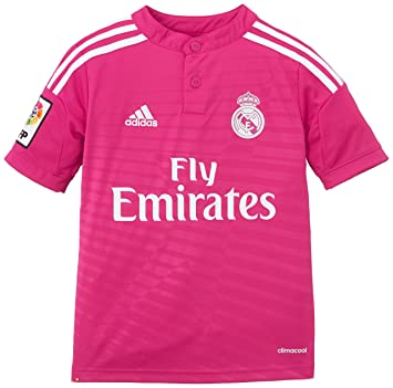 adidas - Camiseta Junior 2ª Equipación Real Madrid CF 2014-2015, Color Rosa, Talla 176 cm: Amazon.es: Deportes y aire libre
