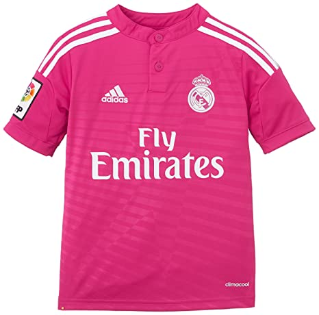 adidas - Camiseta Junior 2ª Equipación Real Madrid Cf 2014-2015, color rosa,