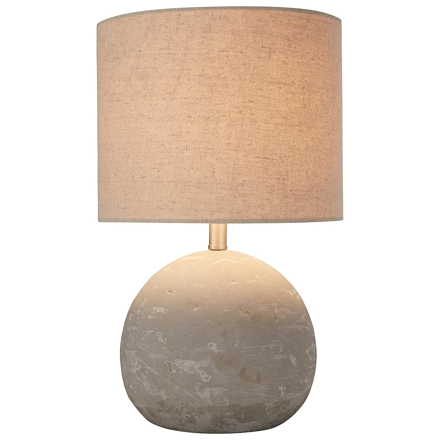 Stone beam ceramic geometric table lamp 25h with bulb white stone beam industrial concrete table lamp 16h with bulb brown geotapseo Choice Image