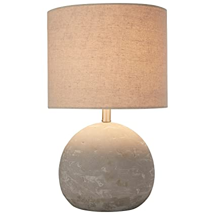 Stone U0026 Beam Industrial Concrete Table Lamp, 16u0026quot; H, With Bulb, ...