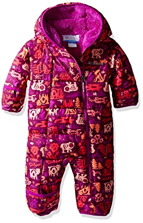 Baby Jackets 6 Months Columbia Baby Girls' Frosty Freeze Bunting, Bright Plum Critter, 12-18 Months