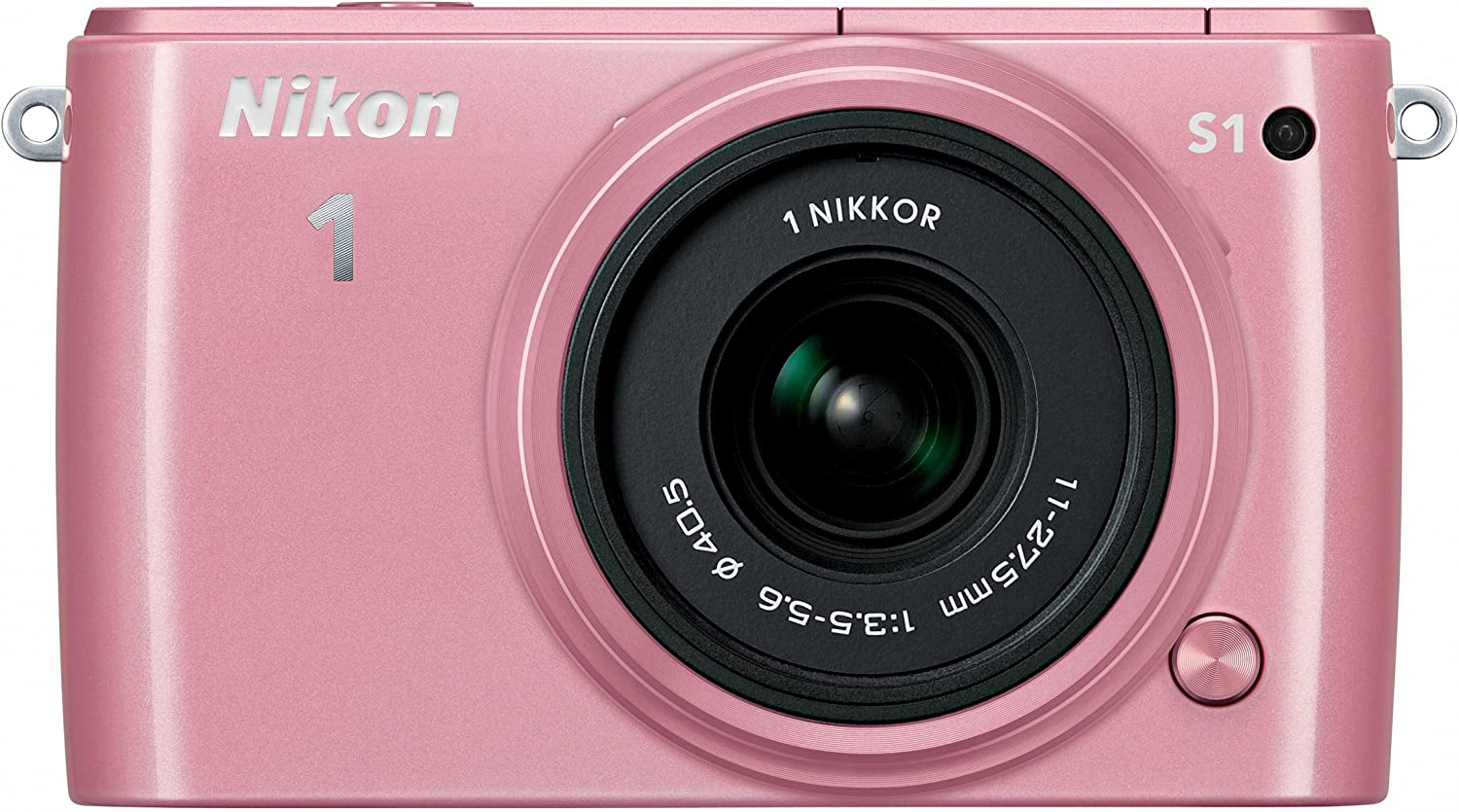 Nikon 1 S1 10.1 MP HD Digital Camera with 11-27.5mm VR 1 NIKKOR Lens (Pink)