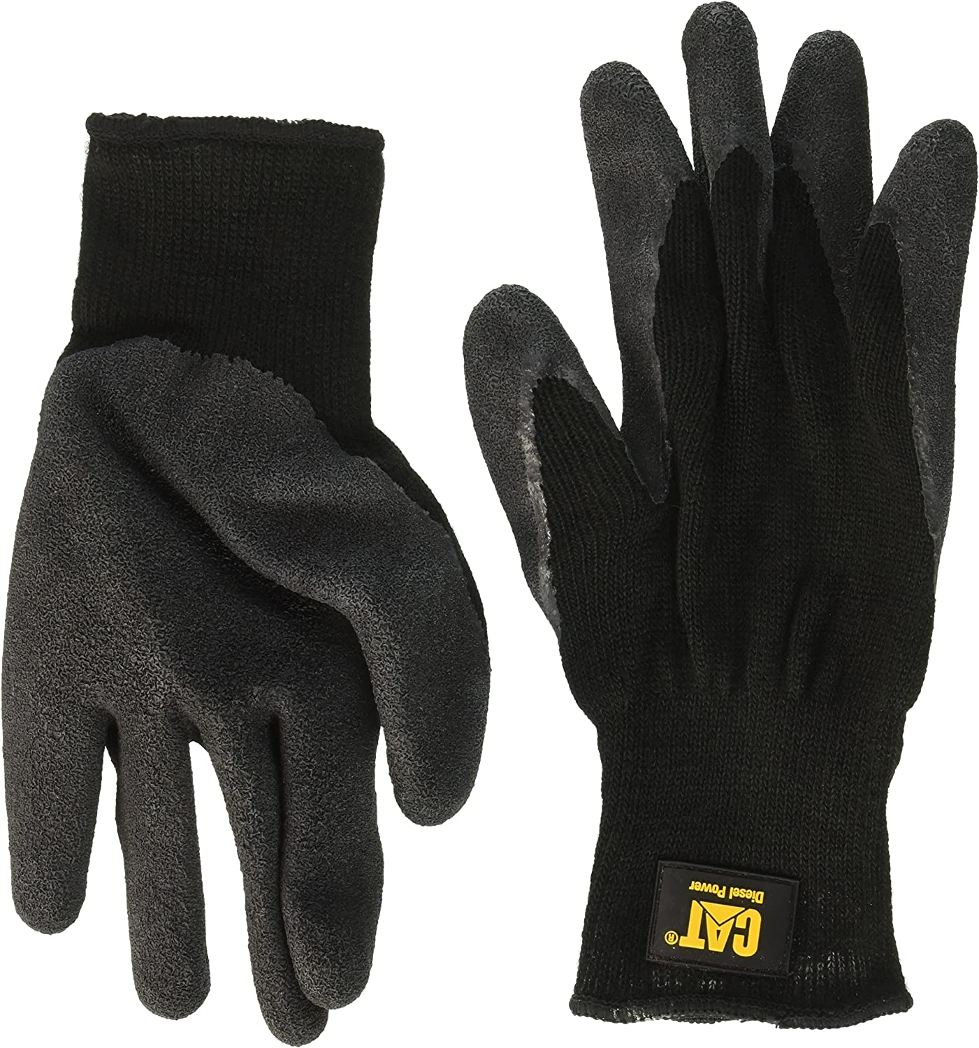 Cat Gripper Gloves Caterpillar Latex Palm Knitted Safety Workwear 3 Sizes
