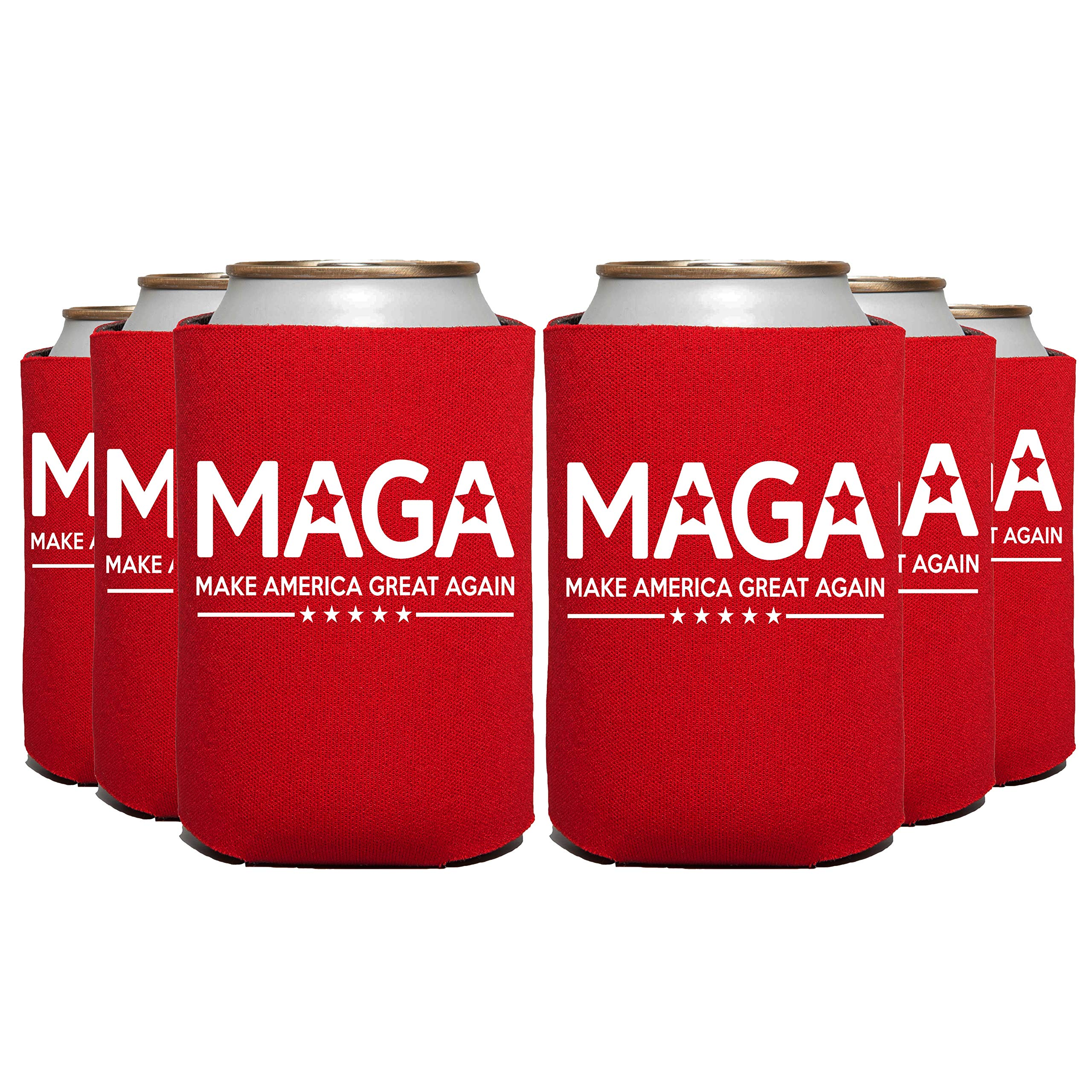 ELEPHIELD Make America Great Again Trump 2020 Can Cooler, 48 Pc, Red by Elephield