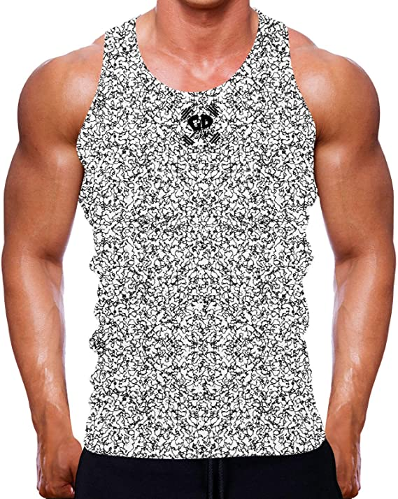 BURGUNDY SPECKLED TANK MUSCLE VEST SLEEVELESS FIT WORKOUT COOL GYM TOP MEN MMA